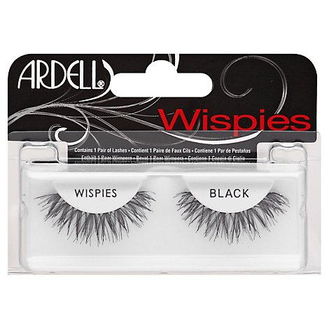 Ardell Lashes Glamour Wispies Black - Each