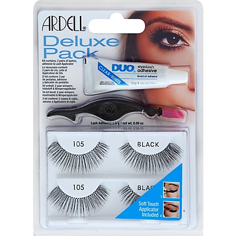 Ardell Eyelashes Kit Deluxe Pack Black 105 - Each