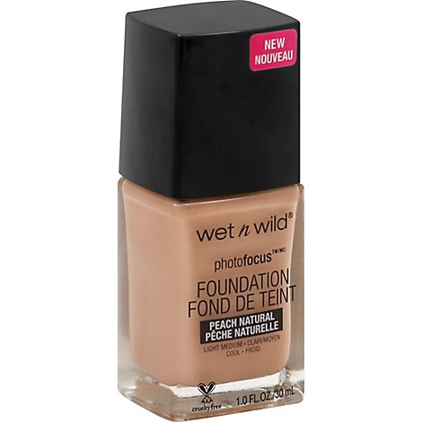 Wet N Wild Photo Focus Foundation Peach Natural - 1 Fl. Oz.