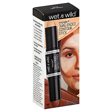 Wet N Wild MegaGlo Dual-Ended Makeup Stick Contour Light/Medium - 0.28 Oz