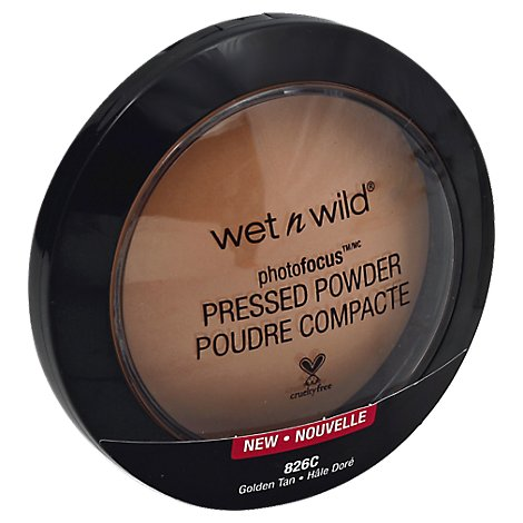Wet N Wild Photo Focus Pressed Powder Golden Tan - 0.26 Oz