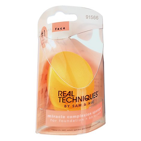 Real Techniques Base Sponge Miracle Complexion Wet Or Dry - Each