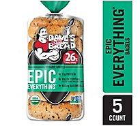 Daves Killer Bread Everything Bagel Organic 5 Count - 16.75 Oz
