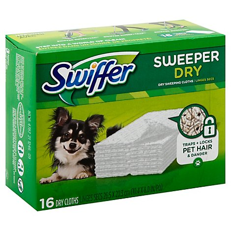 Swiffer Sweeper Dry Sweeping Cloths Refill Unscented - 16 Count