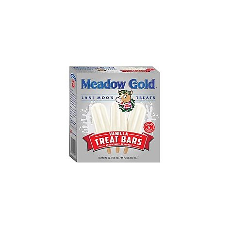 Meadow Gold Treat Bars Vanilla - 6-3.5 Fl. Oz.