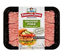Farmer John 80% Lean Natural Ground Pork 20% Fat - 16 Oz