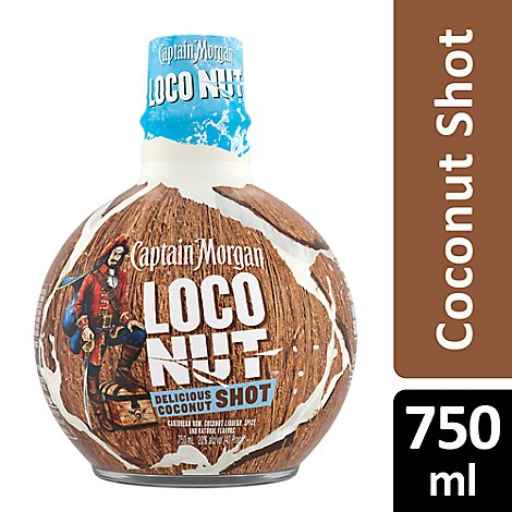 Captain Morgan Rum Caribbean Loco Nut 40 Proof - 750 Ml