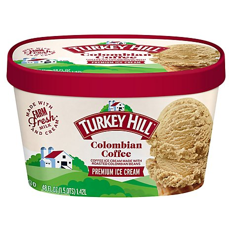 Turkey Hill Ice Cream Colombian Coffee - 48 Fl. Oz.
