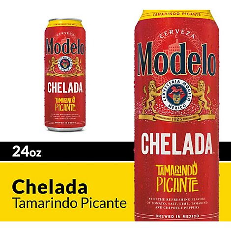 Modelo Chelada Beer Tamarindo Picante Mexican Import Flavored 3.2% ABV Cans - 24 Fl. Oz.