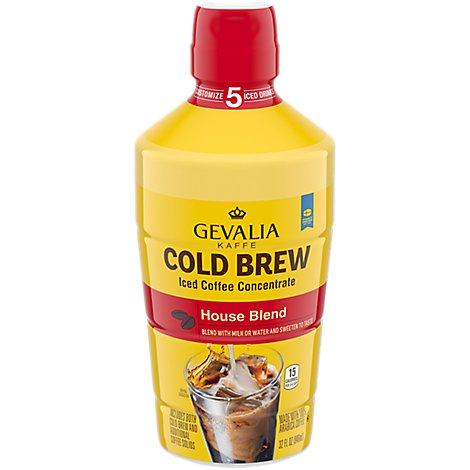 Gevalia Kaffe Coffee Iced Concentrate Cold Brew House Blend - 32 Fl. Oz.
