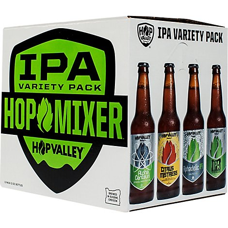 Hop Valley Beer IPA Assorted Bottles 9.6% ABV - 12-12 Fl. Oz.