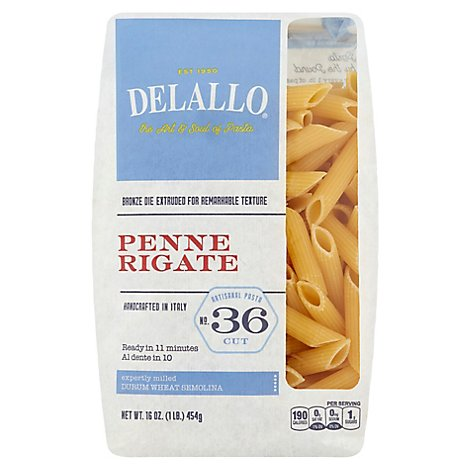 DeLallo Pasta No. 36 Penne Rigate Bag - 16 Oz