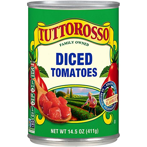 Tuttorosso Tomatoes Diced - 14.5 Oz