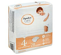 Signature Care Diapers Size 4 22 To 37 Lb - 28 Count