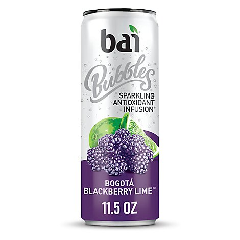 Bai Antioxidant Infusion Water Flavored Sparkling Bogata Blackberry Lime - 11.5 Fl. Oz.