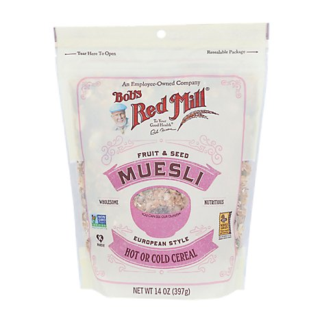 Bobs Red Mill Cereal Hot or Cold Fruit & Seed Muesli - 14 Oz
