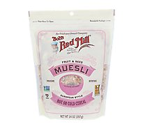 Bobs Red Mill Cereal Muesli Hot Cold Fruit & Seed - 14 Oz