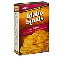 Idaho Spuds Potatoes Sliced Gluten Free Au Gratin Box - 3.9 Oz