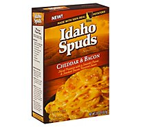 Idaho Spuds Potatoes Sliced Gluten Free Cheddar & Bacon Box - 3.9 Oz