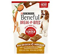 Beneful Break-N-Bites Dog Treats Break-Apart Tender With Real Chicken & Sweet Potatoes - 6 Oz