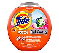 Tide Plus PODS Detergent Pacs 4In1 With Downy April Fresh - 54 Count