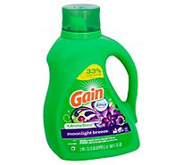 Gain Plus Aroma Boost Laundry Detergent Liquid Moonlight Breeze - 100 Fl. Oz.