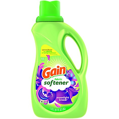 Gain Ultra Fabric Softener Liquid Moonlight Breeze 60 Loads - 51 Fl. Oz.