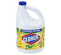 Clorox Bleach Cleaning Pine Sol With Scent Of Lemon Fresh Jug - 121 Fl. Oz.