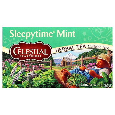 Celestial Seasonings Sleepytime Herbal Tea Bags Caffeine Free Mint 20 Count - 1 Oz