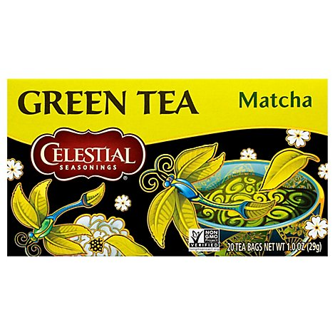 Celestial Seasonings Green Tea Bags Matcha - 20 Count