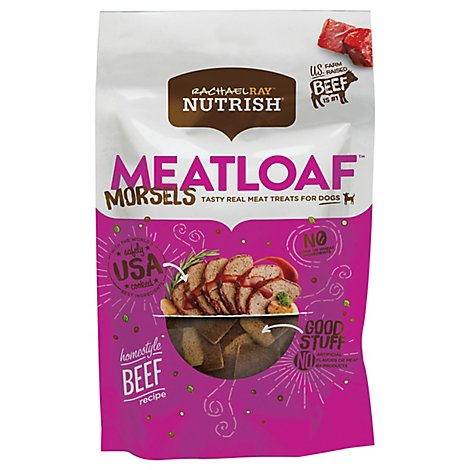 Rachael Ray Nutrish Dog Treats Meatloaf Morsels Beef Pouch - 12 Oz