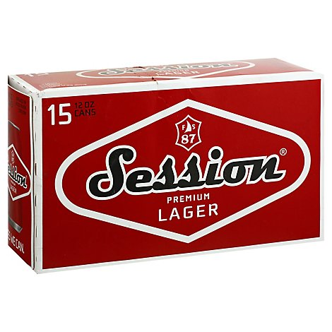 Session Premium Lager In Cans - 15-12 Fl. Oz.
