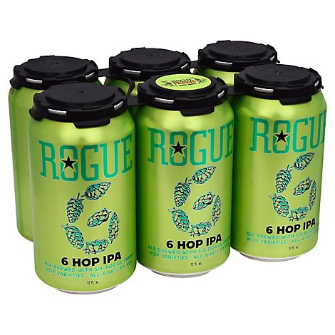 Rogue 6 Hop Ipa In Cans - 6-12 Fl. Oz.