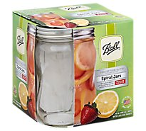 Ball Collection Elite Design Series Spiral Jars Regular Mouth with Lids and Bands - 4 Count