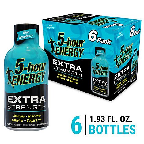 5-hour ENERGY Shot Extra Strength Blue Raspberry - 6-1.93 Fl. Oz.