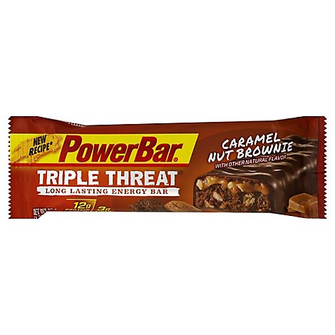 PowerBar Energy Bar Triple Threat Caramel Nut Brownie - 1.76 Oz