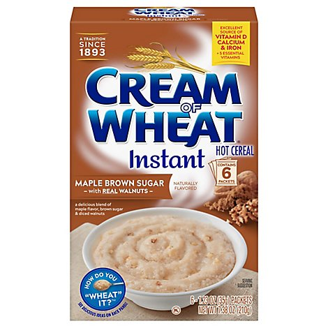Cream Of Wheat Cereal Hot Maple Brown Sugar Instant - 7.5 Oz