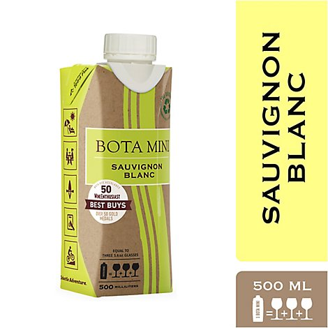 Bota Mini Saivugnon Blanc Wine - 500 Ml