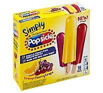 Popsicle Simply Ice Pops Orange Cherry Grape - 18 Count