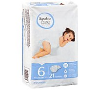 Signature Care Diapers Leakage Protection Size 6 35 Lb Plus - 21 Count