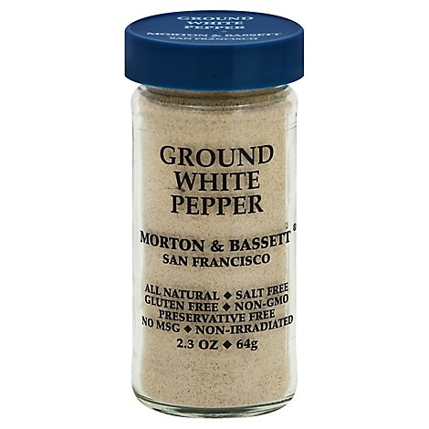 Morton & Bassett White Pepper Ground - 2.3 Oz