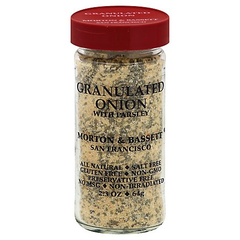 Morton & Bassett Onion with Parsley Granulated - 2.3 Oz