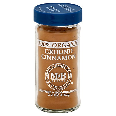 Morton & Bassett Organic Cinnamon Ground - 2.2 Oz