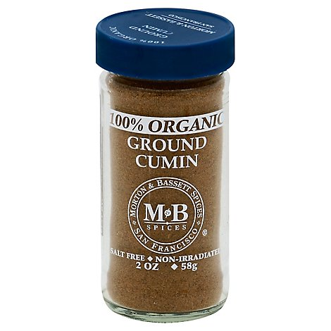 Morton & Bassett Organic Cumin Ground 100% - 2 Oz