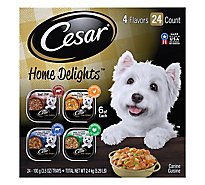 Cesar Home Delights Canine Cuisine 4 Flavors Box - 24-3.5 Oz