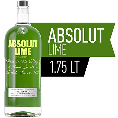 Absolut Vodka Lime 80 Proof - 1.75 Liter