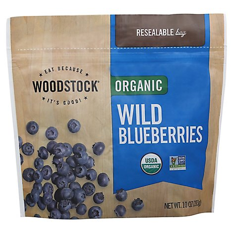 Woodstock Organic Blueberries Wild - 10 Oz