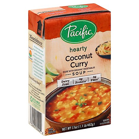 Pacific Organic Soup Hearty Coconut Curry - 17 Oz