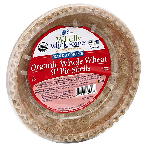 Wholly Wholesome Pie Dough Organic Whole Wheat 9 Inch 2 Count - 14 Oz