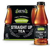 Snapple Straight Up Tea Unsweetened - 6-18.5 Fl. Oz.